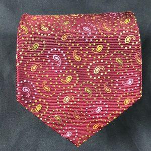 Paul Stuart woven silk paisley tie